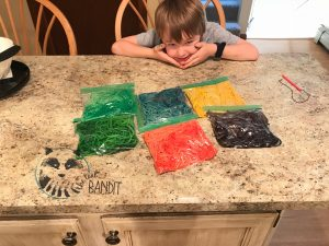 Rainbow spaghetti is a kid friendly favorite for dinner