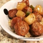 pineapple, soy sauce, meatballs